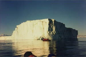 Cruising in the Zodiacs among the Icebergs