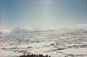 Moving through many miles of Ice. Taken on film, from our cabin window.