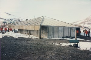 Captain Scott's Expedition Hut at Hut Point, McMurdo Sound.