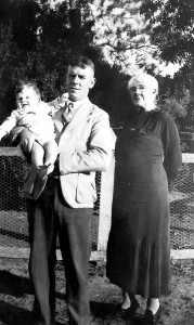 Neale with Athol, my Father and Isabella, my Grandmother at 'Cromdale' in 1941