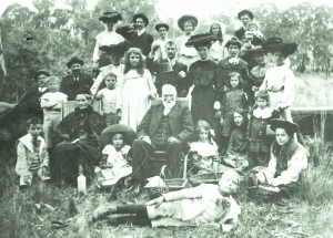 W.S.Beveridge JP,.his wife Jessie and family. Glenelg, circa 1890